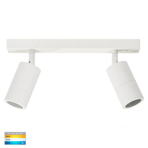 HV4001T-2-WHT - Tivah White 2 Light TRI Colour LED Bar Lights