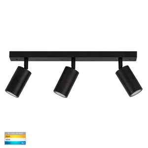 HV4001T-3-BLK - Tivah Black 3 Light TRI Colour Bar Light