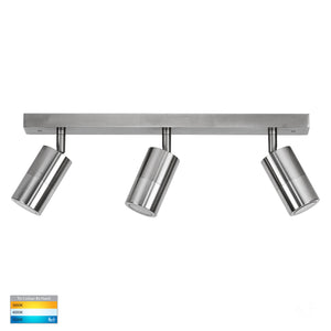 HV4001T-3-TTM - Tivah Titanium Aluminium 3 Light TRI Colour Bar Light