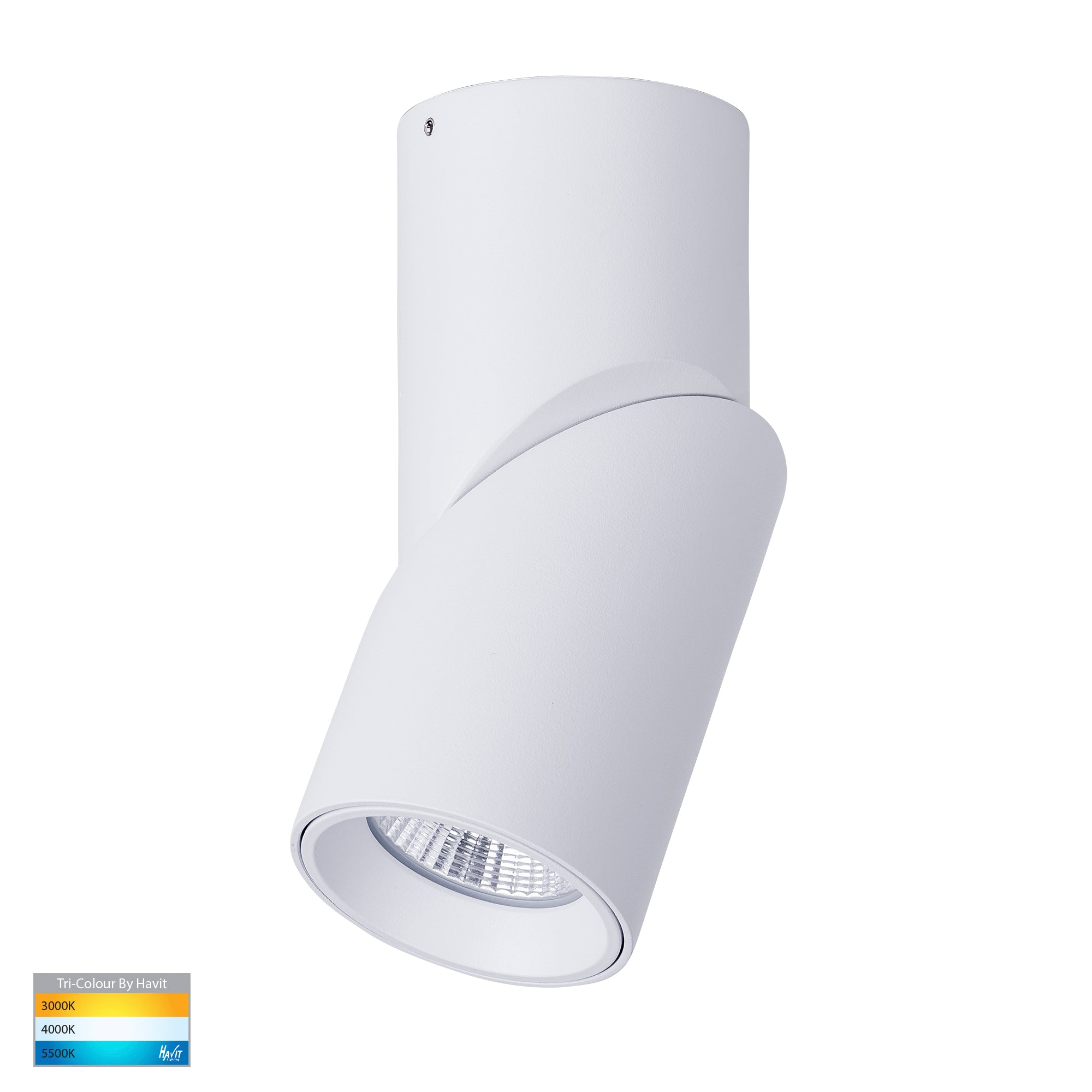 HV5823T-WHT - Nella White 12w Surface Mounted Rotatable LED Downlight