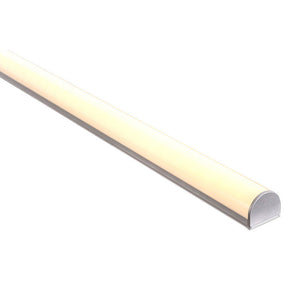 HV9690-2618 - Shallow Square Aluminium Profile with Rounded Diffuser