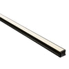 HV9693-1815-BLK - Deep Black Square Aluminium Profile
