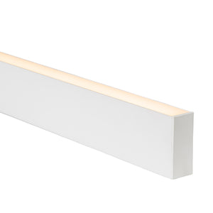 HV9693-3890-WHT - White Deep Square Aluminium Profile