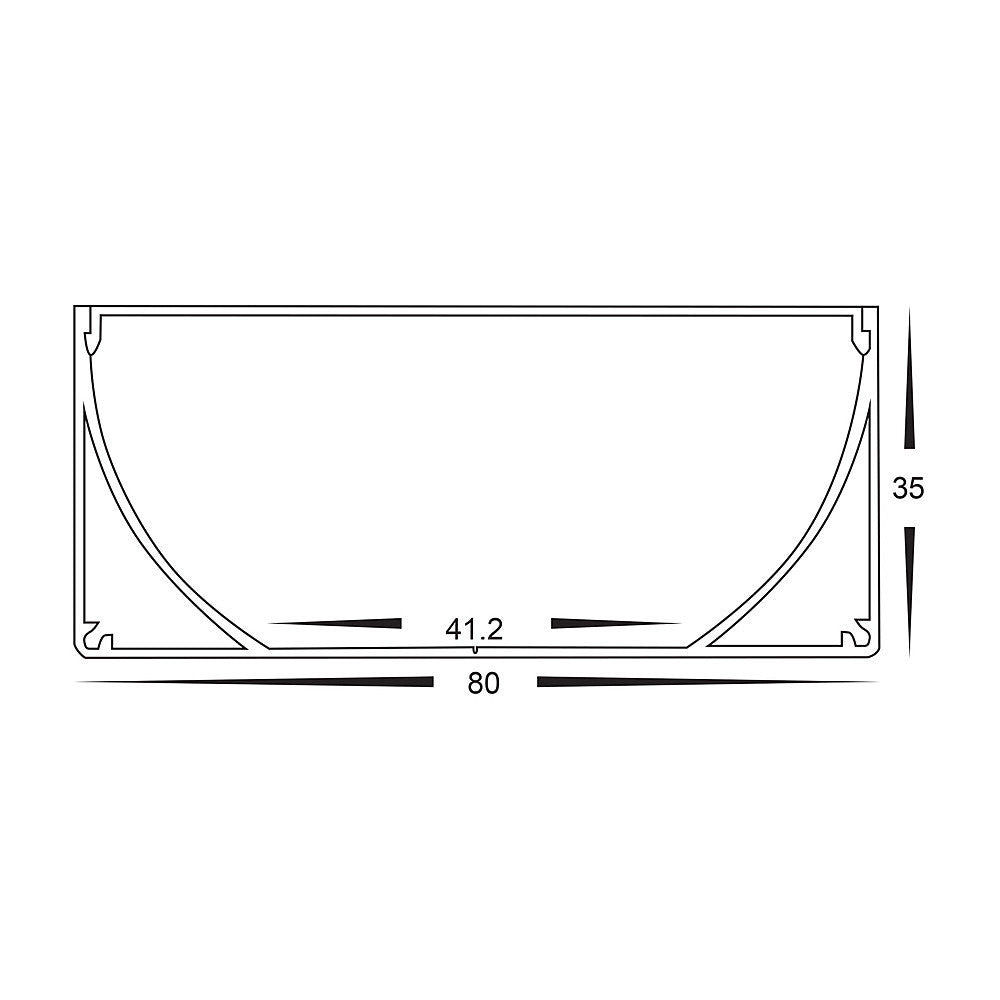 HV9693-8035 - Large Deep Square Aluminium Profile
