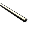 HV9695-2515-BLK - Deep Black Square Winged Aluminium Profile