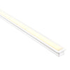 HV9695-2515-WHT - Deep White Square Winged Aluminium Profile