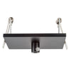 HV9705-9005-BLK-SQ - 100mm Square Recessed Canopy Black