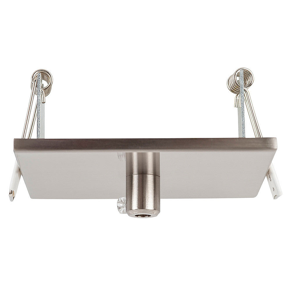 HV9705-9005-SCH-SQ - 100mm Square Rescessed Canopy Satin Chrome