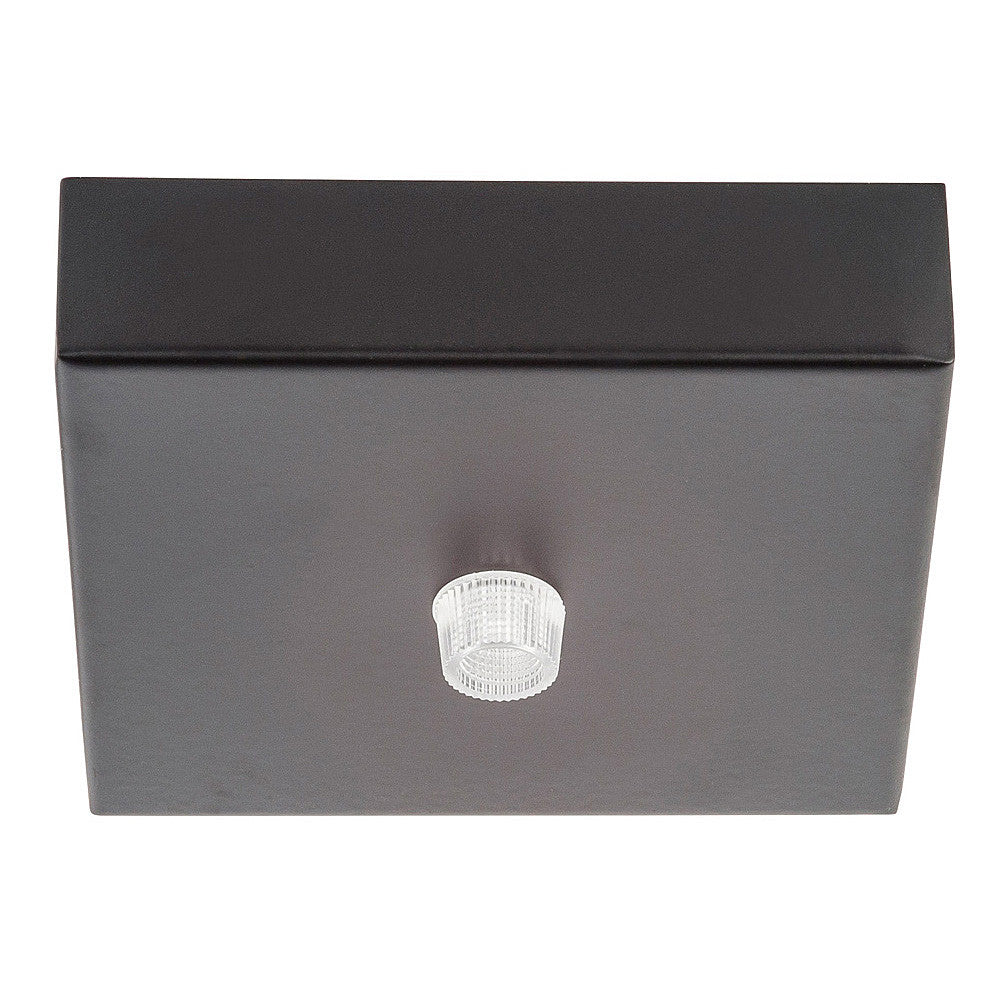 HV9705-9025-BLK-SQ - 100mm Square Canopy Black