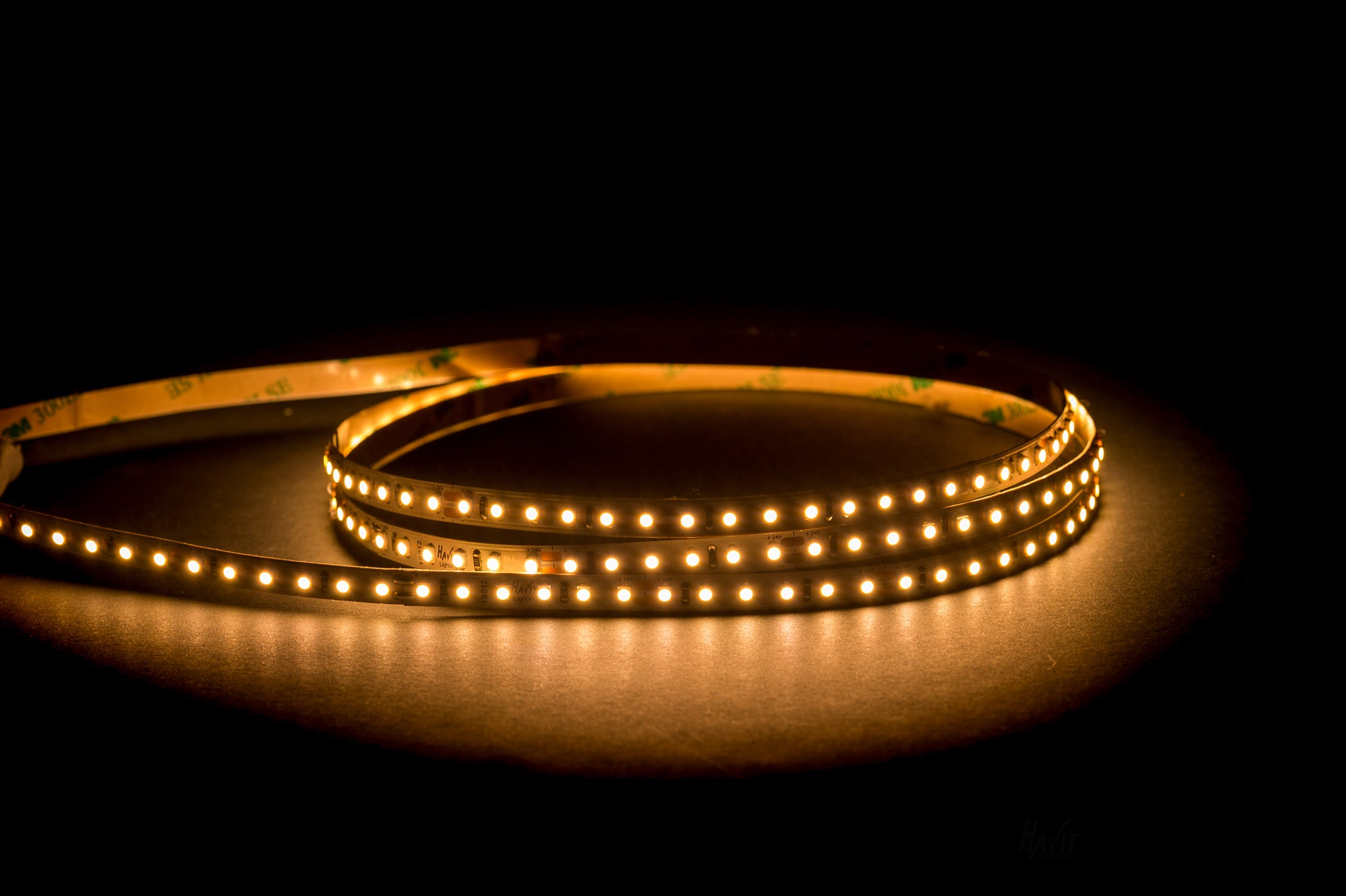 HV9722-IP20-128-3K - 9.6w 24v DC IP20 LED Strip 3000k
