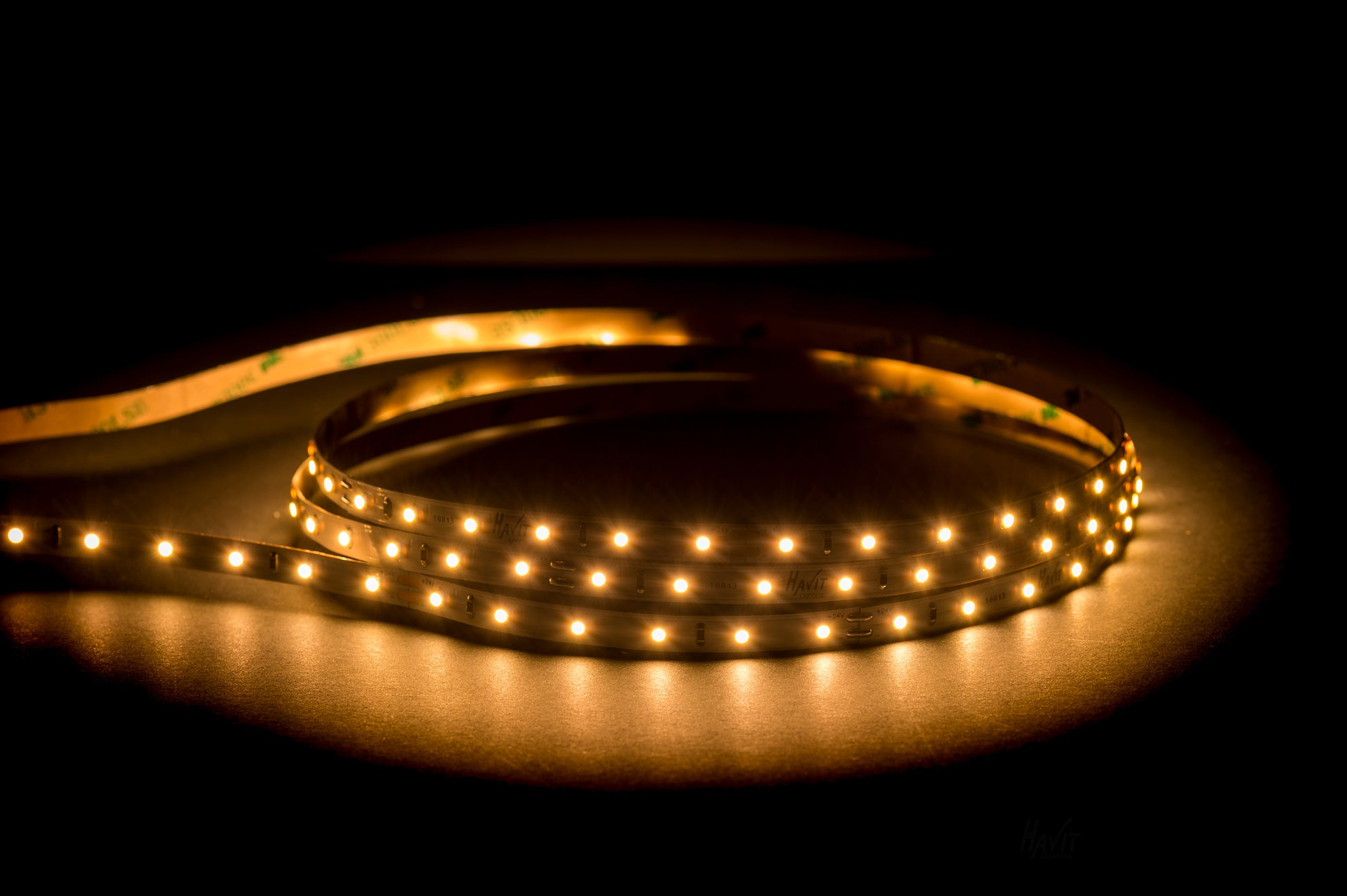 HV9722-IP20-64-3K - 4.8w 24v DC IP20 LED Strip 3000k