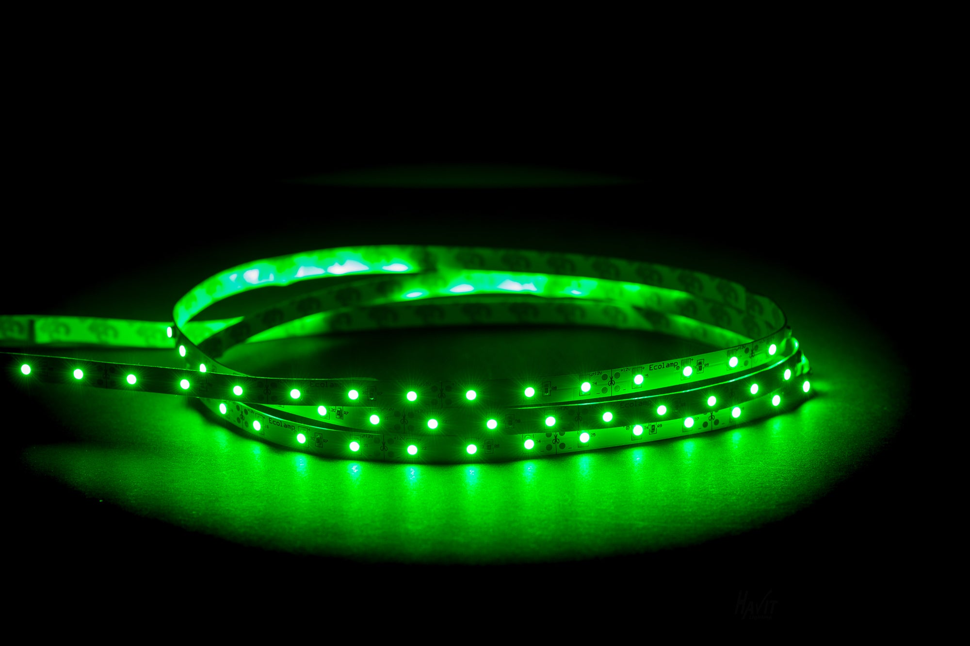 HV9723-IP20-60-G - 4.8w IP20 LED Strip Green