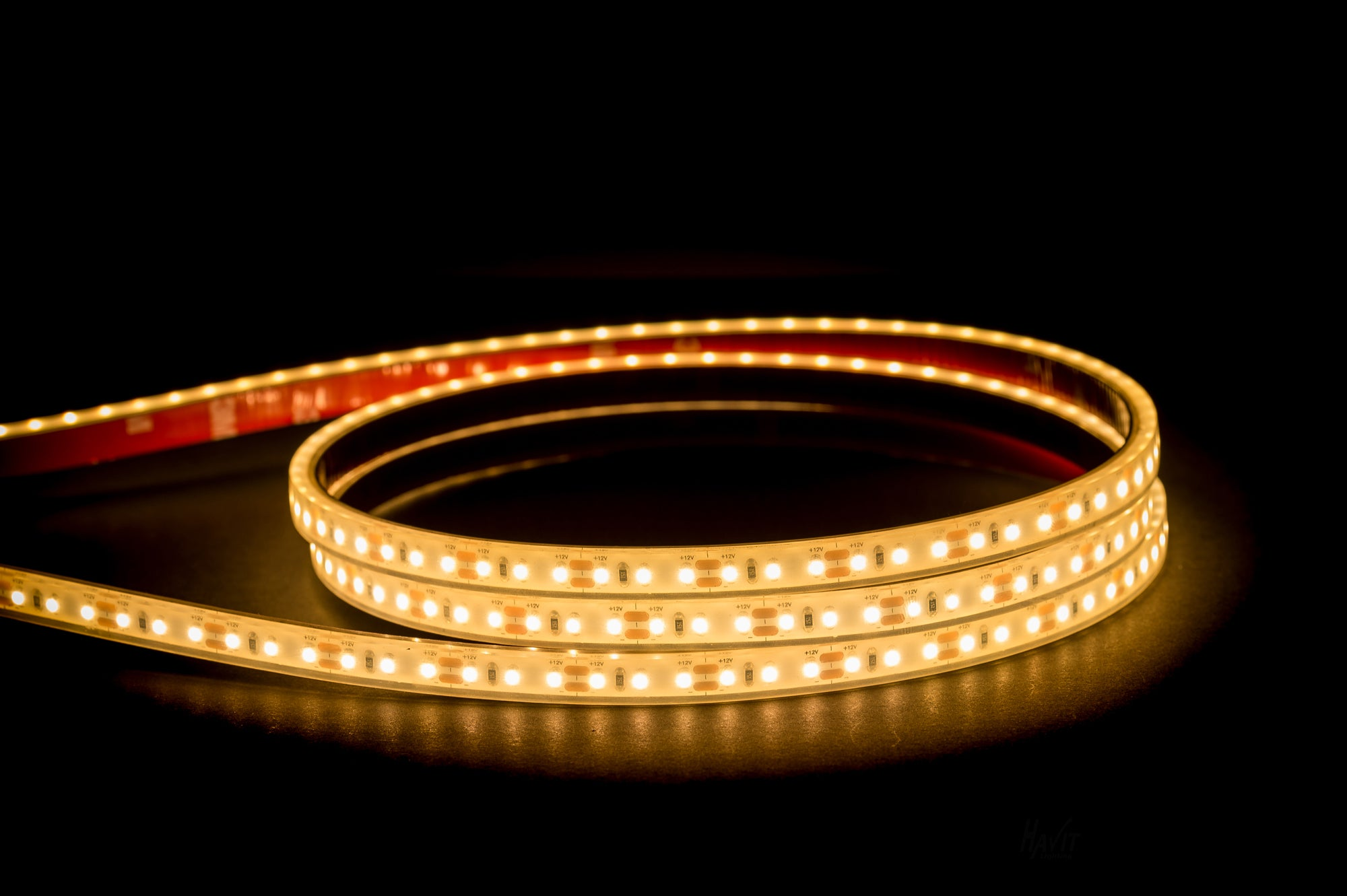 HV9723-IP67-120-3K - 9.6w 12v DC IP67 LED Strip 3000k