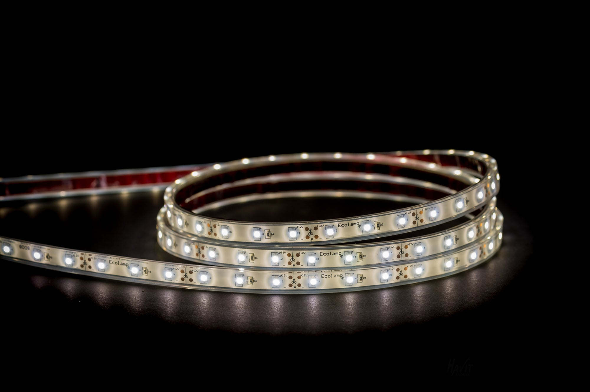HV9723-IP67-60-4K - 4.8w 12v DC IP67 LED Strip 4000k