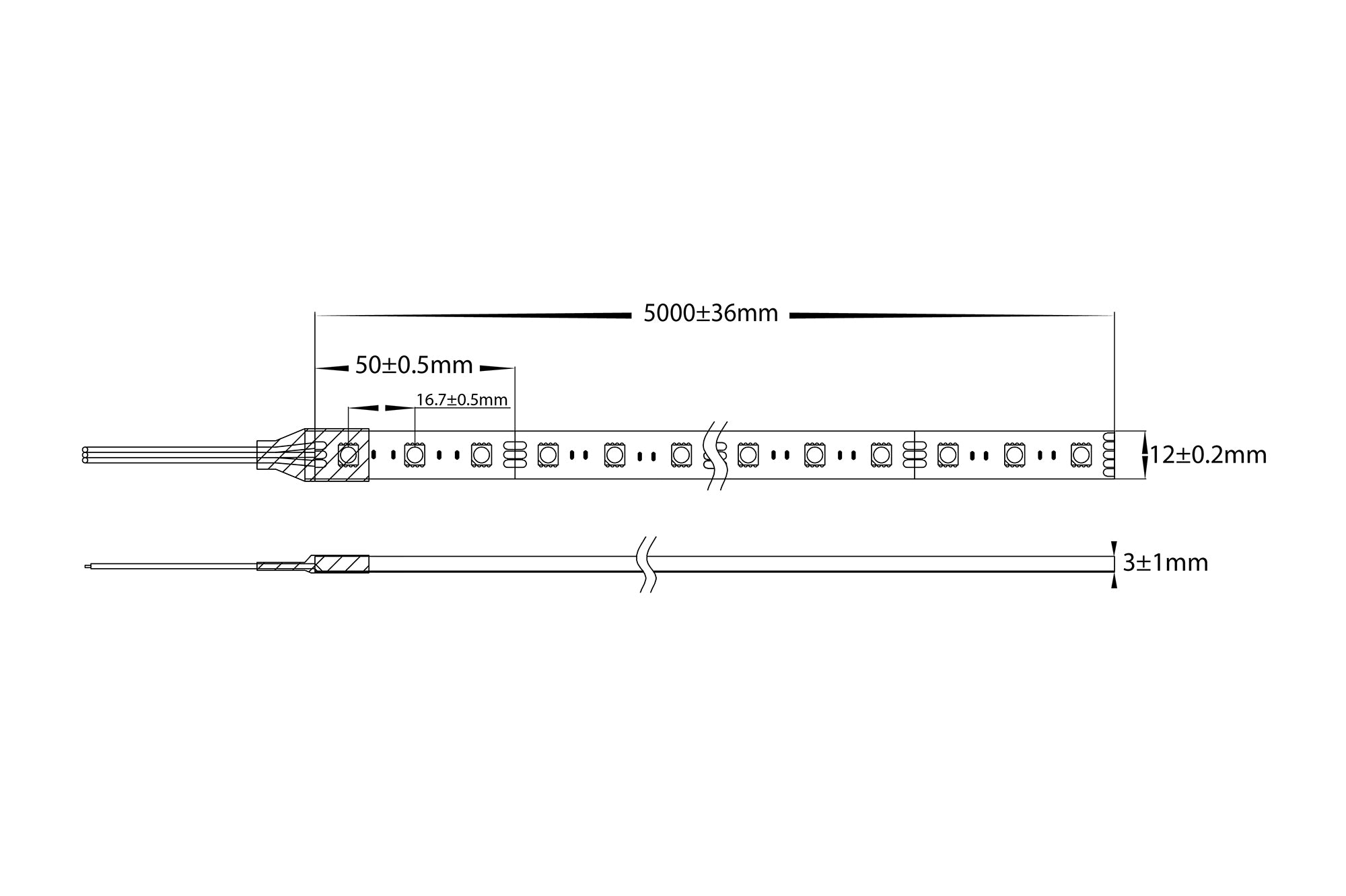 HV9750-IP54-60-CHRGB - 8w IP54 Chasing Mulicolour LED Strip