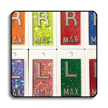 GLITTER X-Ray Markers - Plain Jane Plastic Backed