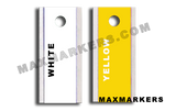 HORIZONTAL POSITIONAL -  Aluminum Backed Plain Jane X-Ray Markers.  Choose your colors