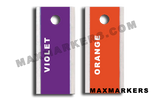 LEFT ONLY - POSITIONAL -  Aluminum Backed Plain Jane X-Ray Markers.  Choose your colors