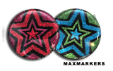 Disco Glitter Star X-Ray Markers