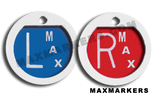 Plastic Round Round Plain Jane X-Ray Markers.  Choose your colors