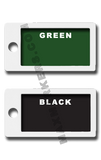 HORIZONTAL POSITIONAL -  Plastic Backed Plain Jane X-Ray Markers.  Choose your colors
