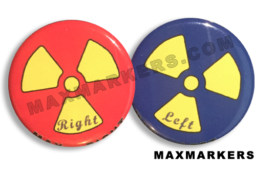 Rad Symbol Red and Blue X-Ray Markers