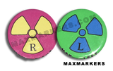 Rad Symbol Mauve and Lime X-Ray Markers
