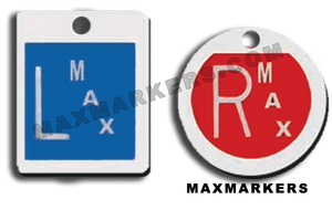 Plastic Square Round Plain Jane X-Ray Markers.  Choose your colors
