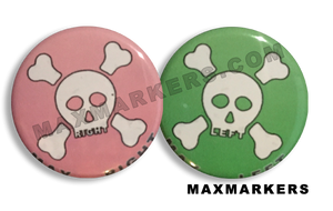 Girly Skull and Crossbones X-Ray Markers