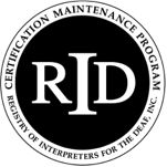 Registry of Interpreters for the Deaf (RID) Logo