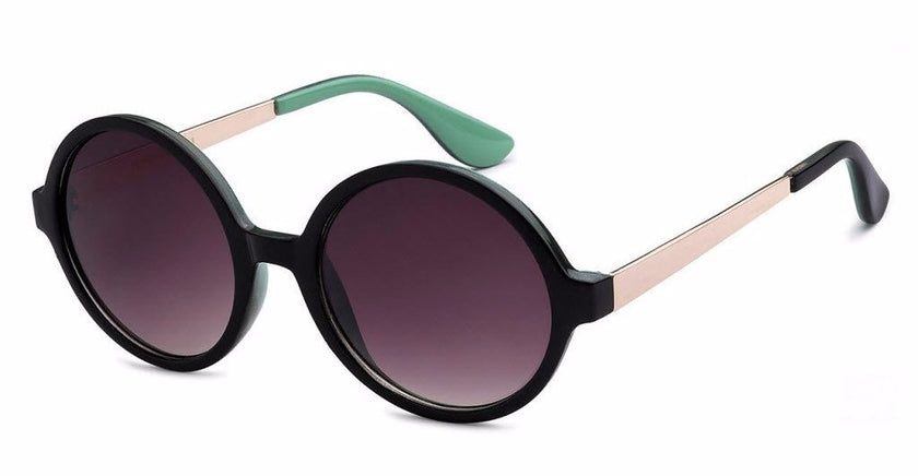 Round women's fashion sunglasses with gold and colored accents, inspired by the glamorous reputation of Hollywood, CA | socalsunnies.com