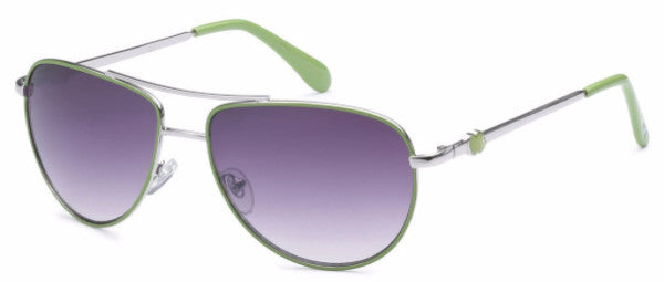 Women's fashion aviator sunglasses withgreen colored earpads and hearts at the temple, inspired by the beach life of the SoCal Coastline | socalsunnies.com