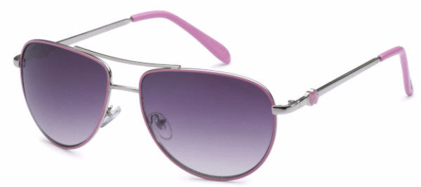 Women's fashion aviator sunglasses with cotton candy pink colored earpads and hearts at the temple, inspired by the beach life of the SoCal Coastline | socalsunnies.com