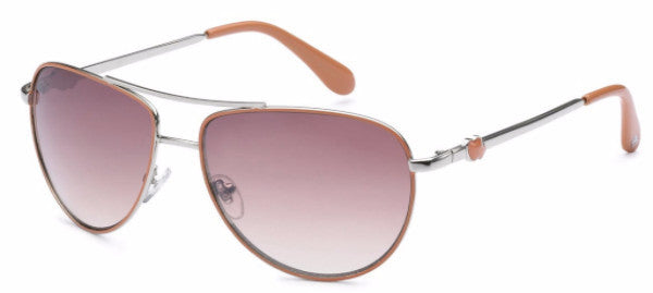 Women's fashion aviator sunglasses with orange colored earpads and hearts at the temple, inspired by the beach life of the SoCal Coastline | socalsunnies.com