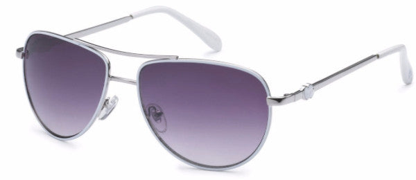 Women's fashion aviator sunglasses with white colored earpads and hearts at the temple, inspired by the beach life of the SoCal Coastline | socalsunnies.com