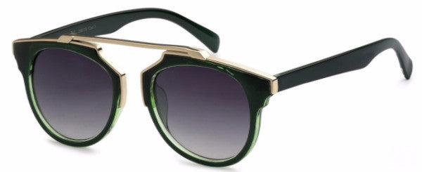 Modified Journeyer women's fashion sunglasses with hunter green frames and gold accents, inspired by resort life in Palm Springs, CA | socalsunnies.com