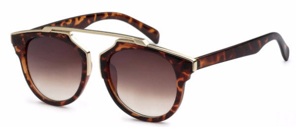 Modified Journeyer women's fashion sunglasses with tortoise frames and gold accents, inspired by resort life in Palm Springs, CA | socalsunnies.com