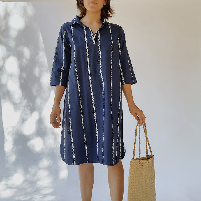 Snap Dragon & Twig | Iris Dress in Navy