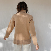 Load image into Gallery viewer, SWTR | Pointelle Turtleneck Sweater in Camel