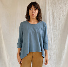Load image into Gallery viewer, Cut Loose | Asymmetrical Pullover Top in Atlas Blue
