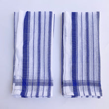 Load image into Gallery viewer, Blockprint Napkin Set/4 | Blue Stripe