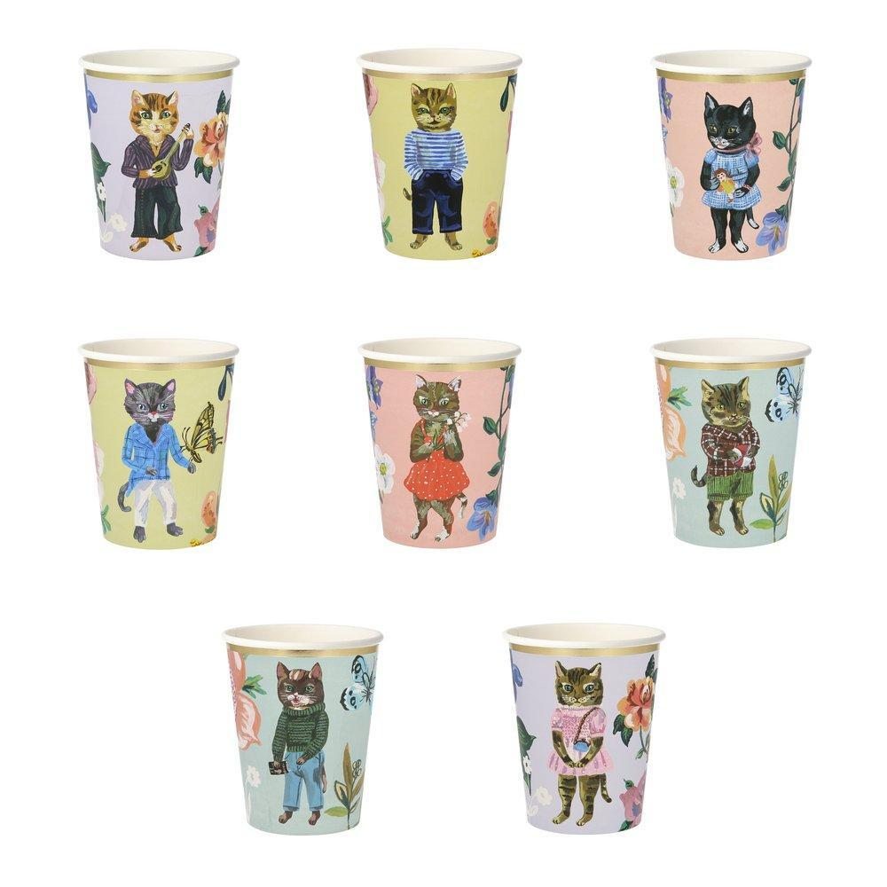 Meri Meri | Nathalie Lete Flora Cat Party Cups