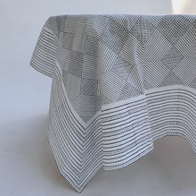 Load image into Gallery viewer, Blockprint Tablecloth | Grey Grid