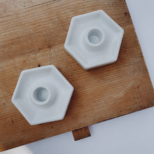 Hexagonal Ceramic Candlestick Holder
