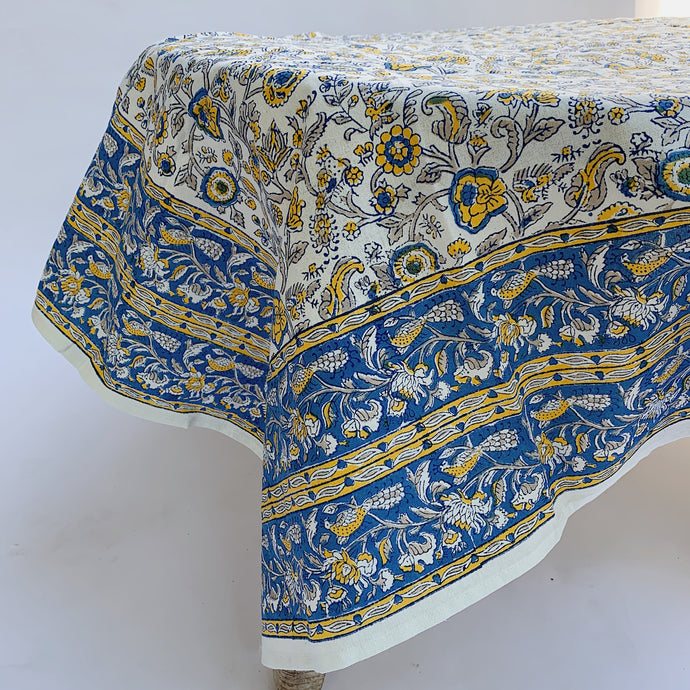 Blockprint Tablecloth | Provence