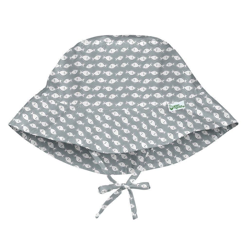 Bucket Sun Hat | Gray Fish Geo