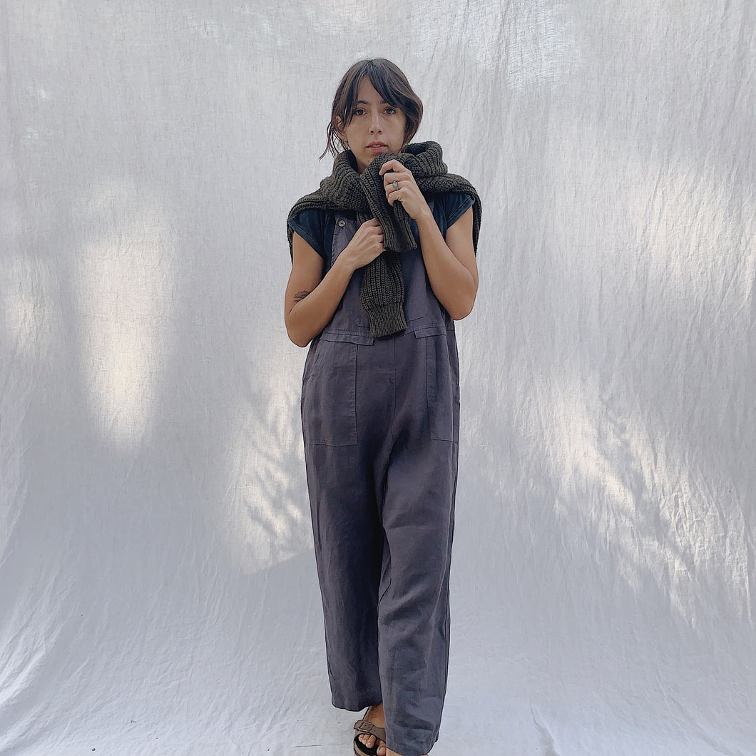 Kleen | Linen Jumpsuit in Charcoal