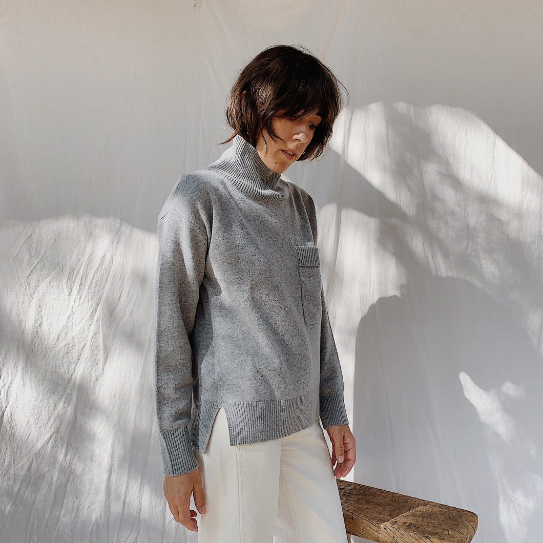 SWTR | Grey Turtleneck Sweater