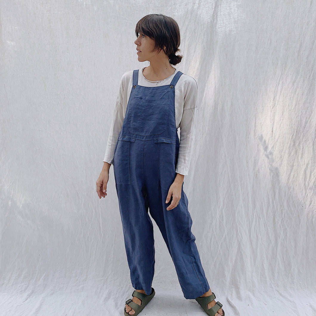 Kleen | Linen Jumpsuit in Navy