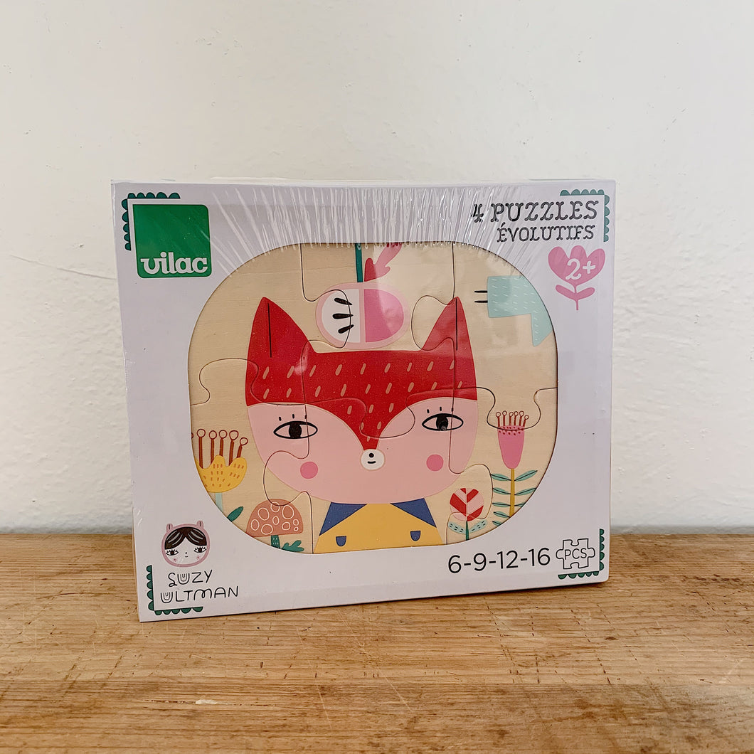 Vilac | Wooden Puzzle Set by Suzy Ultman